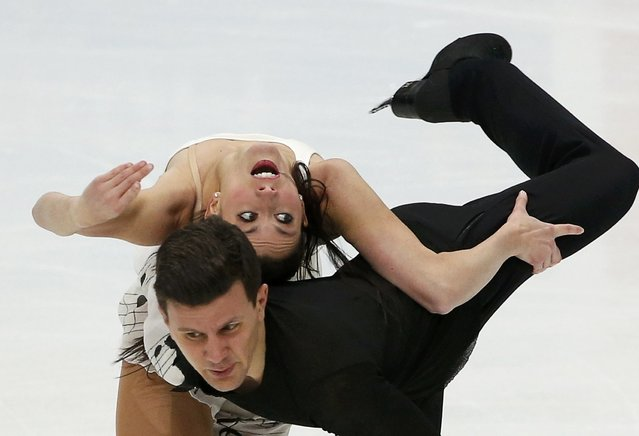 Figure Skating, ISU Grand Prix Rostelecom Cup 2016/2017, Ice Dance Free Dance in Moscow, Russia on November 5, 2016. Charlene Guignard and Marco Fabbri of Italy compete. (Photo by Grigory Dukor/Reuters)