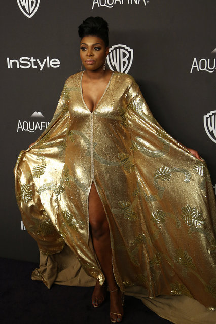 Actress Ta'Rhonda Jones attends the 17th Annual Instyle and Warner Bros. Pictures Golden Globes After Party in Beverly Hills, California January 10, 2016. (Photo by David McNew/Reuters)