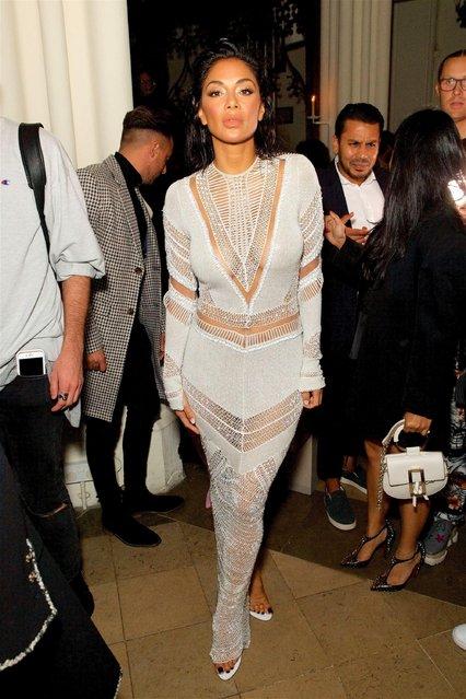 Nicole Scherzinger seen attending LFW s/s 2019: Julien Macdonald – catwalk show & afterparty at St John's, Hyde Park during London Fashion Week September 2018 on September 15, 2018 in London, England. (Photo by Capturise/Rex Features/Shutterstock)