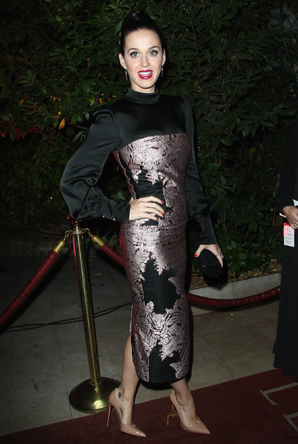 """Katy Perry attends the """"Mademoiselle C"""" cocktail party at Pavillon Ledoyen on October 1, 2013 in Paris, France. (Photo by Julien M. Hekimian/Getty Images)"""