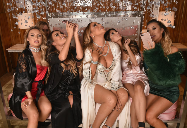 (L-R) Jade Chapman, Maryam Maquillage, Mariah Carey, Laura Lee and Arika Sato attend M.A.C Cosmetics Mariah Carey Beauty Icon Launch at Baccarat Hotel on December 3, 2016 in New York City. (Photo by Theo Wargo/Getty Images for M.A.C)