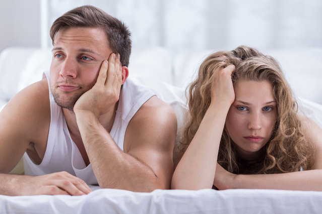 Couple having problems in bedroom. (Photo by Katarzyna Bialasiewicz/Getty Images)