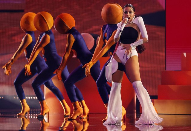 Doja Cat performs at the 2021 Billboard Music Awards at Microsoft Theater in Los Angeles, California, U.S., May 21, 2021. (Photo by Mario Anzuoni/Reuters)