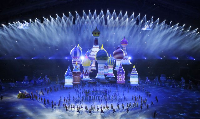Artists perform during the opening ceremony of the 2014 Winter Olympics in Sochi, Russia, Friday, February 7, 2014. (Photo by Mark Humphrey/AP Photo)