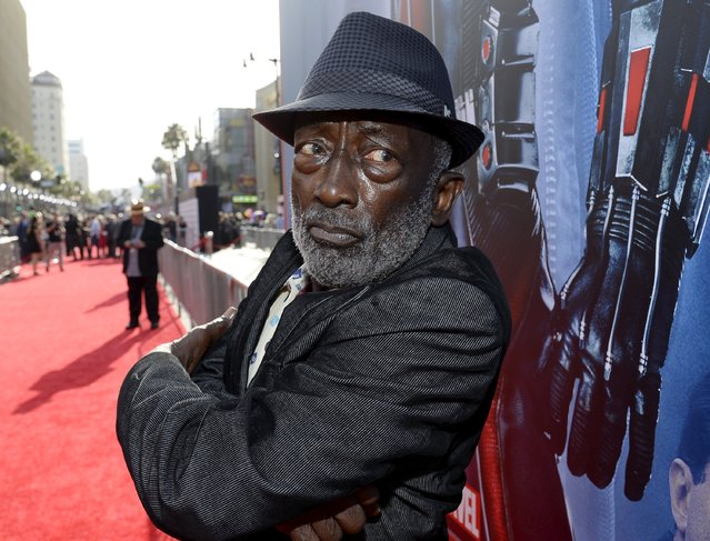 """Actor Garrett Morris poses at the premiere of Marvel's """"Ant-Man"""" in Hollywood, California June 29, 2015. (Photo by Kevork Djansezian/Reuters)"""