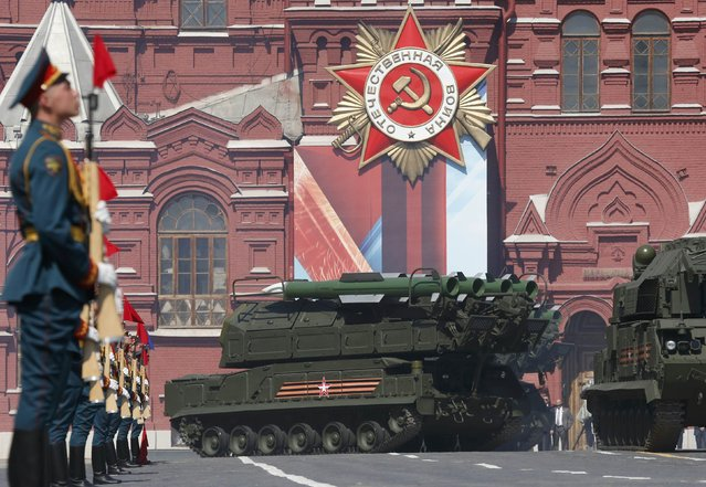 A Russian Buk-M2 missile system drives during the Victory Day parade, marking the 71st anniversary of the victory over Nazi Germany in World War Two, at Red Square in Moscow, Russia, May 9, 2016. (Photo by Grigory Dukor/Reuters)