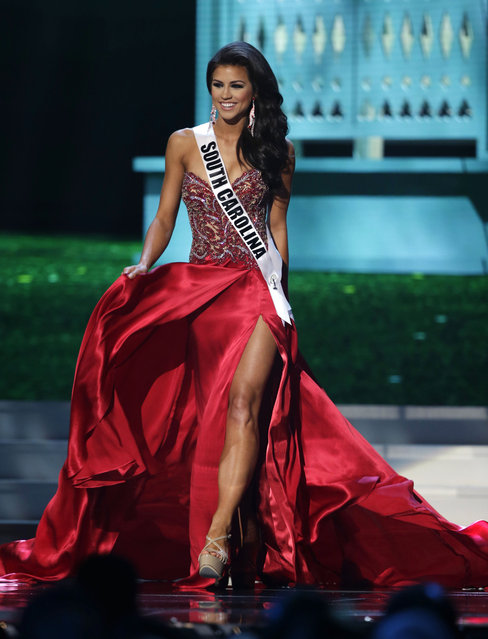 Miss South Carolina Sarah Weishuhn competes in the evening gown competition during the preliminary round of the 2015 Miss USA Pageant in Baton Rouge, La., Wednesday, July 8, 2015. (Photo by Gerald Herbert/AP Photo)