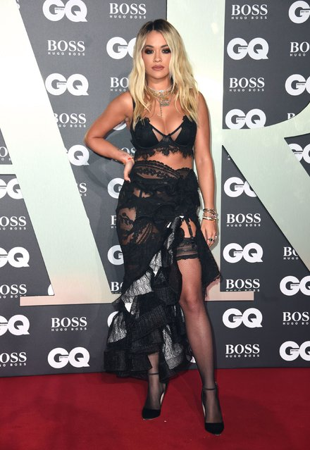 Rita Ora attends the GQ Men Of The Year Awards 2019 at Tate Modern on September 03, 2019 in London, England. (Photo by Mike Marsland/WireImage)