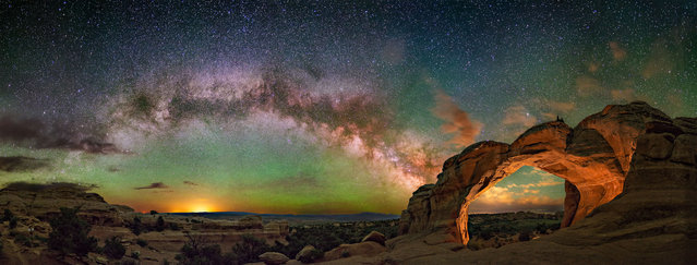Broken Arches National Park in Utah. (Photo by Wayne Pinkston/Caters News)