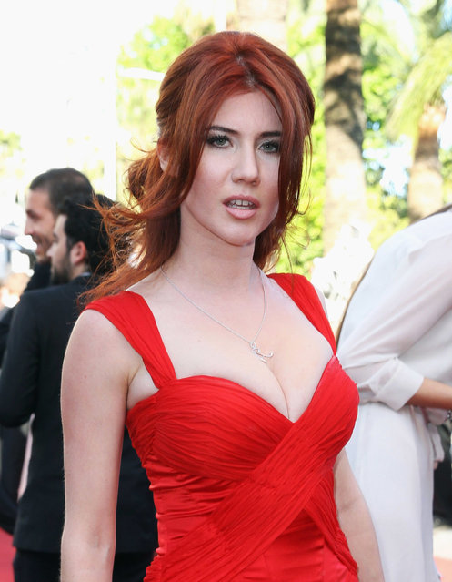 """Russian intelligence agent Anna Chapman attends the Premiere of """"Nebraska"""" during the 66th Annual Cannes Film Festival at The Palais des Festivals on May 23, 2013 in Cannes, France. (Photo by Danny Martindale/WireImage)"""