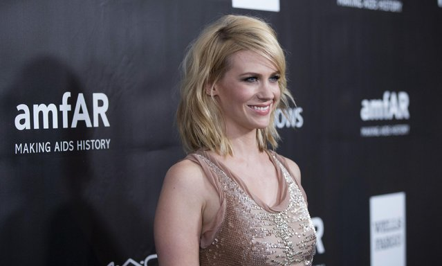Actress January Jones poses at amfAR's Fifth Annual Inspiration Gala in Los Angeles, California October 29, 2014. (Photo by Mario Anzuoni/Reuters)