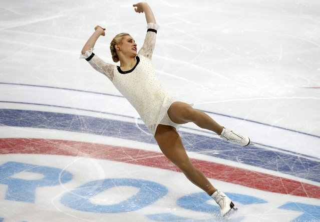 Ashley Cain of the U.S. performs during the ladies free skating program at the Rostelecom Cup ISU Grand Prix of Figure Skating in Moscow November 15, 2014. (Photo by Grigory Dukor/Reuters)