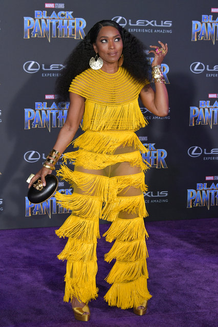 """Actor Angela Bassett attends the premiere of Disney and Marvel's """"Black Panther"""" at Dolby Theatre on January 29, 2018 in Hollywood, California. (Photo by Neilson Barnard/Getty Images)"""