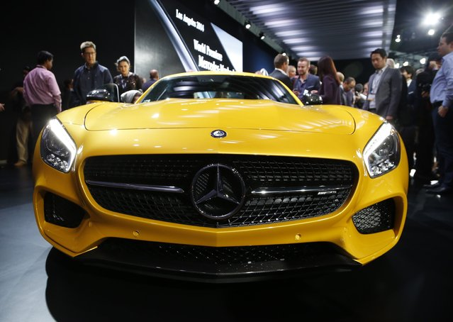 The Mercedes AMG GT S is shown during the model's world debut at the Los Angeles Auto Show in Los Angeles, California November 19, 2014. (Photo by Lucy Nicholson/Reuters)