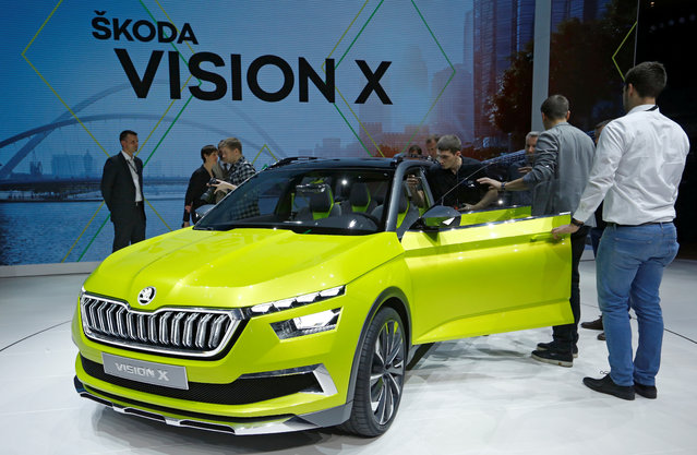 Skoda Vision X is presented during the press day at the 88th Geneva International Motor Show in Geneva, Switzerland on Tuesday, March 6, 2018. (Photo by Denis Balibouse/Reuters)