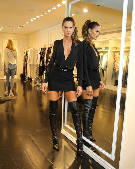Brazilian model Izabel Goulart marks the appearance at the Blanc store in São Paulo, Brazil on April 6, 2018. (Photo by Leo Marinho/Splash News and Pictures)