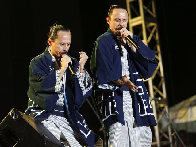 Japanese reggae group Ackee & Saltfish perform at the Sting 2014 concert in Kingston, December 27, 2014. (Photo by Gilbert Bellamy/Reuters)