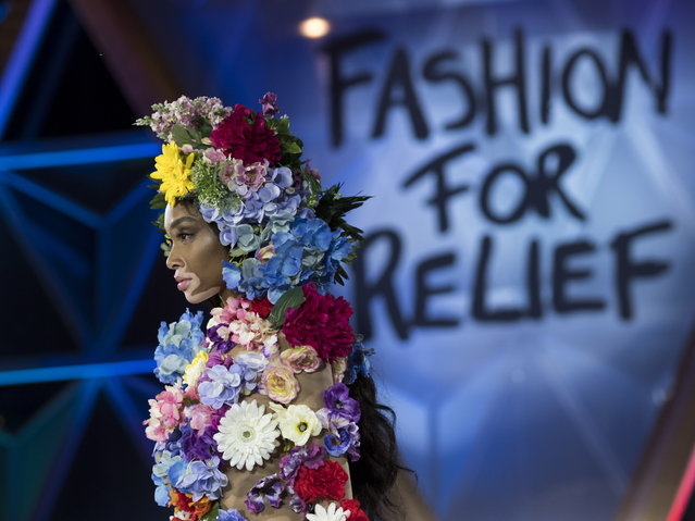 Winnie Harlow walks the runway at Fashion For Relief show during the 71st annual Cannes Film Festival at Aeroport Cannes Mandelieu in Cannes, France, 13 May 2018. (Photo by Arnold Jerocki/EPA/EFE)