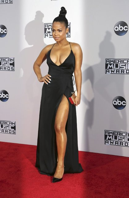 Singer Christina Milian arrives at the 2015 American Music Awards in Los Angeles, California November 22, 2015. (Photo by David McNew/Reuters)