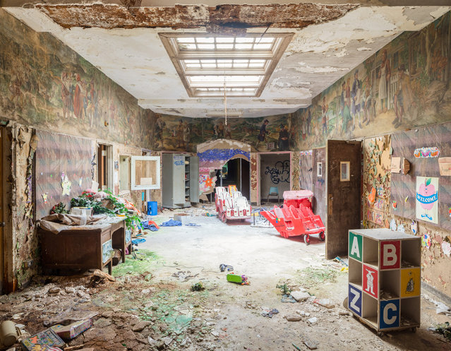 This area of the hospital was last used as a day care center in the early 2000s. (Photo by Will Ellis/Caters News)