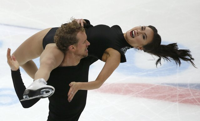 Figure Skating, ISU Grand Prix Rostelecom Cup 2016/2017, Ice Dance Free Dance in Moscow, Russia on November 5, 2016. Madison Chock and Evan Bates of the U.S. compete. (Photo by Grigory Dukor/Reuters)