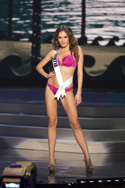 Ivana Misura, Miss Croatia 2014, competes in the swimwear competition during the Miss Universe Preliminary Show in Miami, Florida in this January 21, 2015 handout photo. (Photo by Reuters/Miss Universe Organization)