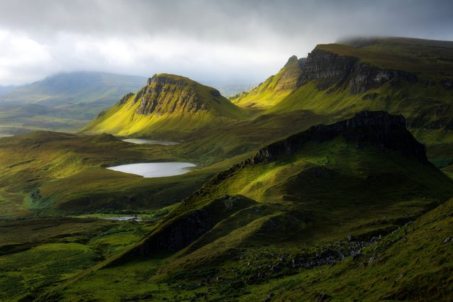 Quiraing circuit is the famous trakking trail of Isle of Skye, United Kingdom. It is located in the north east of island. (Photo by Getty Images)