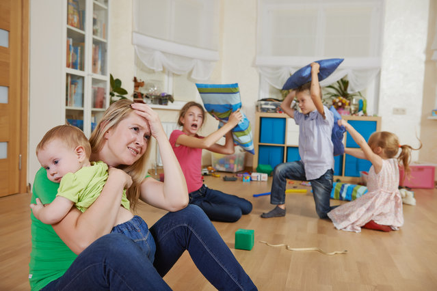 Female parent woman frustrated and upset from children behaviour. (Photo by Getty Images/iStockphoto)