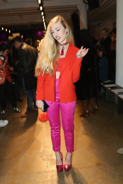 Morgan Hill  attends The Blonds fashion show during Fall 2016 MADE Fashion Week at Milk Studios on February 17, 2016 in New York City. (Photo by Monica Schipper/Getty Images)