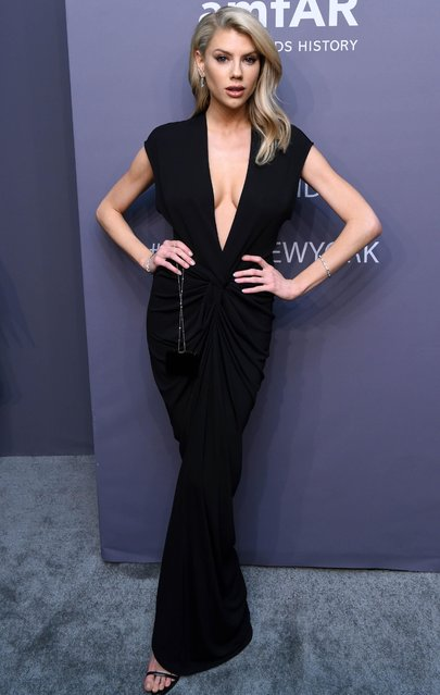 Model Charlotte McKinney attends the amfAR Gala New York AIDS research benefit at Cipriani Wall Street on Wednesday, February 6, 2019, in New York. (Photo by Stephen Lovekin/Rex Features/Shutterstock)