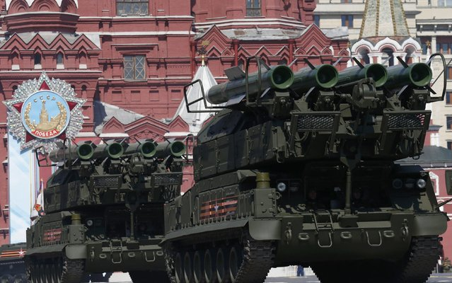 Russian Buk-M2 missile systems drive during the Victory Day parade, marking the 71st anniversary of the victory over Nazi Germany in World War Two, at Red Square in Moscow, Russia, May 9, 2016. (Photo by Grigory Dukor/Reuters)