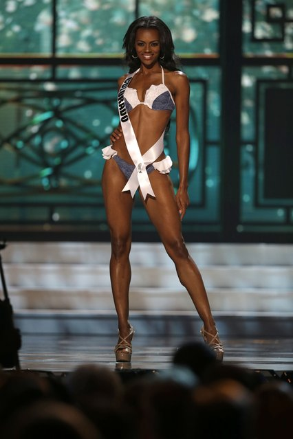 Miss Colorado Talyah Polee competes in the swimsuit competition during the preliminary round of the 2015 Miss USA Pageant in Baton Rouge, La., Wednesday, July 8, 2015. (Photo by Gerald Herbert/AP Photo)