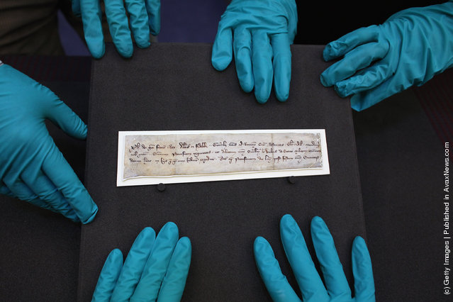 A 700-year-old letter believed to have been in the possession of William Wallace