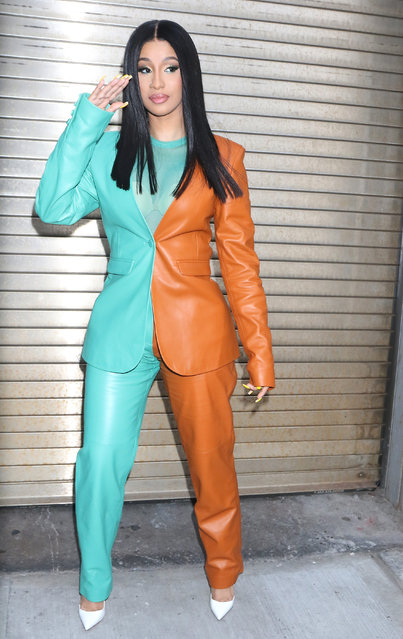 Cardi B is seen on October 10, 2019 in New York City. (Photo by MediaPunch/Bauer-Griffin/GC Images)