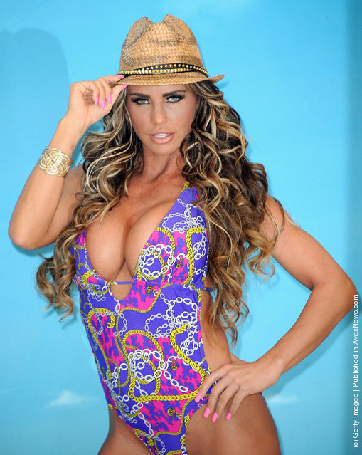 Katie Price and her 'Blacksheep girls' launch her new swimwear range for Katie's Boutique for Store 21 at The Worx Studio's