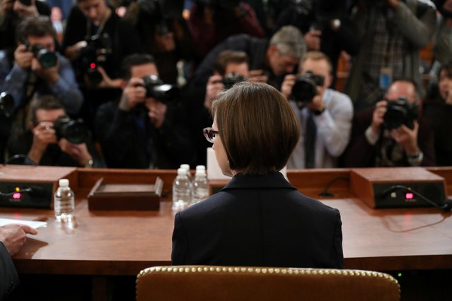 Deputy Assistant Secretary of Defense for Russian, Ukrainian, and Eurasian Affairs Laura Cooper takes her seat at a House Intelligence Committee impeachment inquiry into U.S. President Donald Trump on Capitol Hill in Washington, U.S., November 20, 2019. (Photo by Loren Elliott/Reuters)