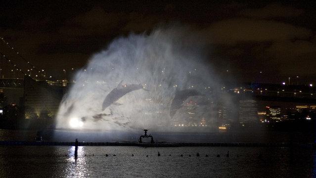 Japan Odaiba Water Illumination