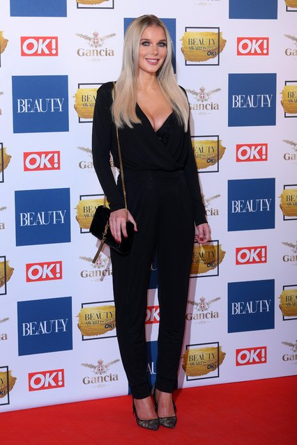 Helen Flanagan attends The Beauty Awards at Tower of London on November 28, 2017 in London, England. (Photo by David Fisher/Rex Features/Shutterstock)
