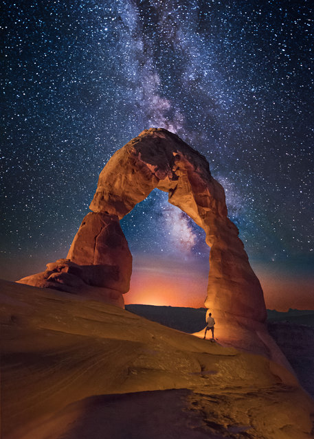 Delicate Arch in Utah. (Photo by Wayne Pinkston/Caters News)