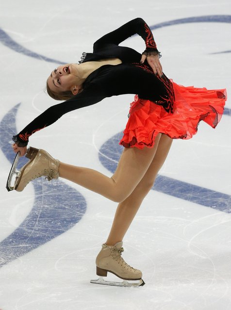 Russia's Maria Stavitskaia performs during the ladies free skating program at the Rostelecom Cup ISU Grand Prix of Figure Skating in Moscow November 15, 2014. (Photo by Grigory Dukor/Reuters)