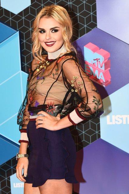 Tallia Storm attends the MTV Europe Music Awards 2016 on November 6, 2016 in Rotterdam, Netherlands. (Photo by Jeff Kravitz/FilmMagic)
