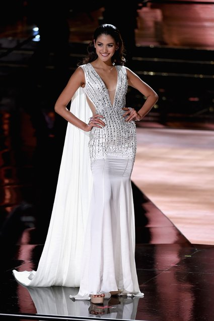 Miss Thailand 2015, Aniporn Chalermburanawong, competes in the evening gown competition during the 2015 Miss Universe Pageant at The Axis at Planet Hollywood Resort & Casino on December 20, 2015 in Las Vegas, Nevada. (Photo by Ethan Miller/Getty Images)