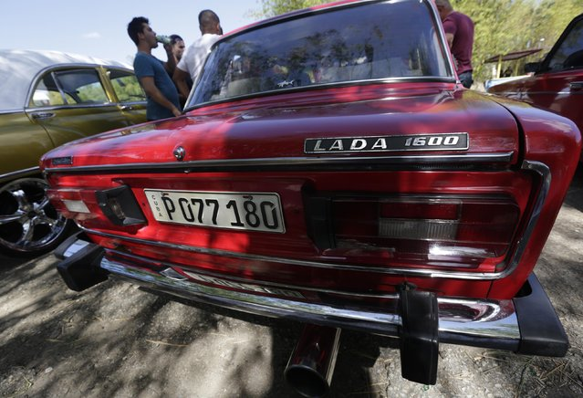 A Lada 1600 is seen parked at the beach on the outskirts of Havana February 8, 2015. (Photo by Enrique De La Osa/Reuters)