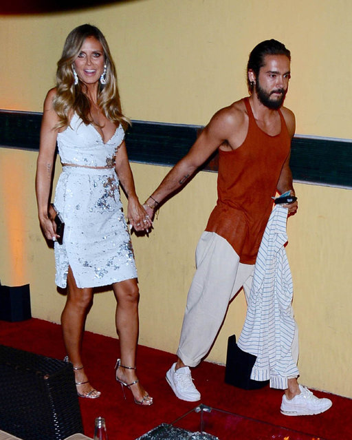 Heidi Klum and Tom Kaulitz are seen on August 22, 2018 in Los Angeles, CA. (Photo by SMXRF/Star Max/GC Images)