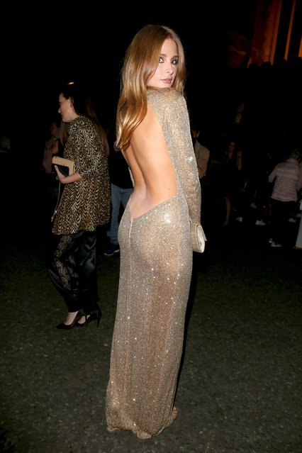 Millie Mackintosh seen attending LFW s/s 2019: Julien Macdonald – catwalk show & afterparty at St John's, Hyde Park during London Fashion Week September 2018 on September 15, 2018 in London, England. (Photo by Beretta/Sims/Rex Features/Shutterstock)