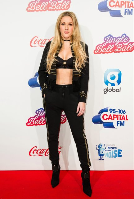 Ellie Goulding attends Capital's Jingle Bell Ball with Coca-Cola on December 4, 2016 in London, United Kingdom. (Photo by Jeff Spicer/Getty Images)