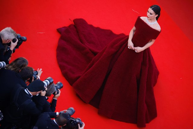 """Amy Jackson attends the """"A Felesegam Tortenete/The Story Of My Wife"""" screening during the 74th annual Cannes Film Festival on July 14, 2021 in Cannes, France. (Photo by Sarah Meyssonnier/Reuters)"""