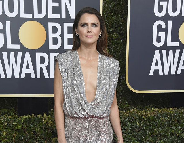 Keri Russell arrives at the 76th annual Golden Globe Awards at the Beverly Hilton Hotel on Sunday, January 6, 2019, in Beverly Hills, Calif. (Photo by Jordan Strauss/Invision/AP Photo)