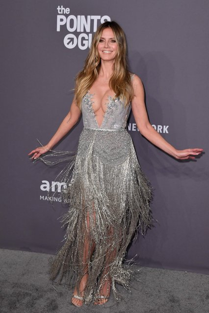 US-German model Heidi Klum arrives to attend the amfAR Gala New York at Cipriani Wall Street in New York City on February 6, 2019. (Photo by Angela Weiss/AFP Photo)