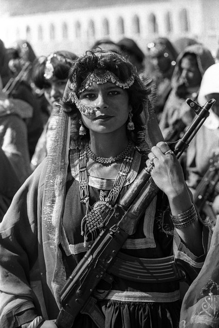A female rebel in Kabul, Afghanistan, circa 1979. Photo taken at a parade in Kabul in honor of the pro-Communist Saur Revolution. She was from the women's battalion of the people's militia (one of the anti-imperial groups that participated in the coup d'etat). (Photo by Viktor Khabarov)